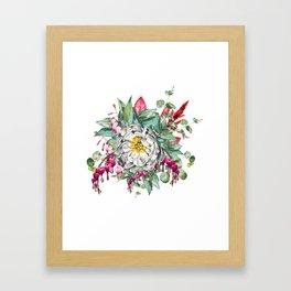 Gentille Peony, watercolor handpainted clipart, floral, flower, design, stylish, wedding, invitation Framed Art Print