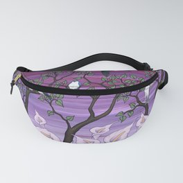 calla lilies & tree swallows Fanny Pack