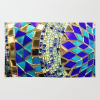 photograph Area & Throw Rugs featuring mosaic and beads [photograph] by Sylvia Cook Photography
