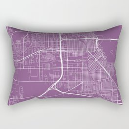Beaumont Map, USA - Purple Rectangular Pillow
