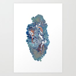 Covered Up In Virgin Snow 1 Art Print