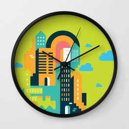my home my city Wall Clock