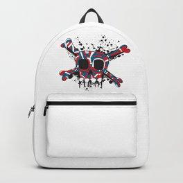 JOLLY ROGER SKULL CROSSBONES DOODLE SKETCH Backpack