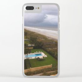 Stormy Weather at the Beach Clear iPhone Case