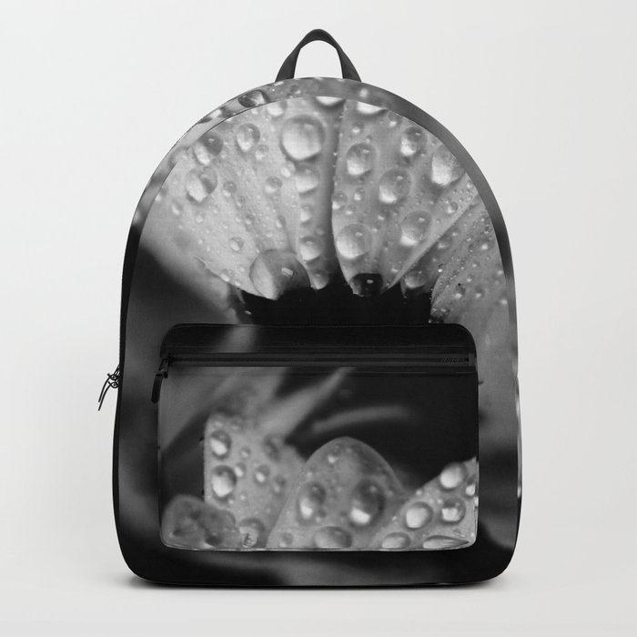 Daisies in black and white Backpack