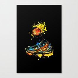 Basketball illustration Canvas Print