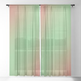 Kiwi Strawberry Sheer Curtain