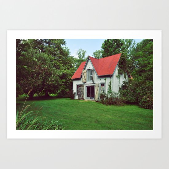 The Lindens Carriage House Art Print