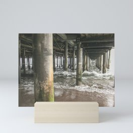 Under The pier at Santa Monica  | United States travel photography | Bright and pastel colored photo print |  Mini Art Print