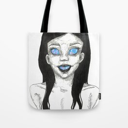 Girl with the universe within Tote Bag