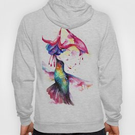 Rainbow Hummingbird in Flowers with Nectar Hoody