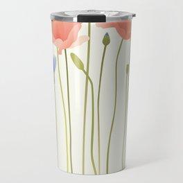 Blushing Poppies II Travel Mug