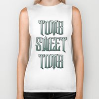 haunted mansion Biker Tanks featuring Haunted Mansion - Tomb Sweet Tomb by Brianna