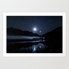 Moon & Venus, Southern Chile Art Print