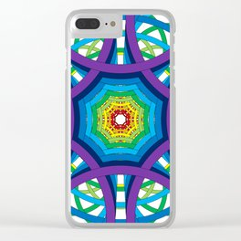 Circles to Oblivion in Reverse Clear iPhone Case