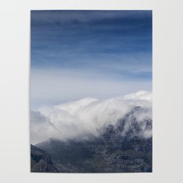 Clouds on Table Mountain Poster