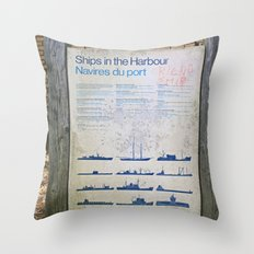 Ships in the Harbour (Friendship) Throw Pillow