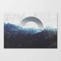 Canvas Prints featuring Through the Mountains by cafelab