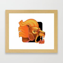 Leo zodiac sign Framed Art Print