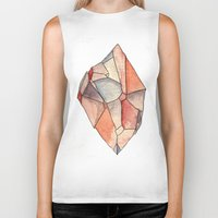 crystal Biker Tanks featuring Crystal  by Matt Smith