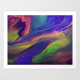 Blacklight Nebula Art Print