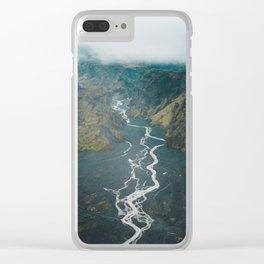 Braided Rivers in Þórsmörk, Iceland Clear iPhone Case