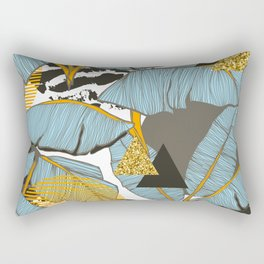 Banana leaves and triangles Rectangular Pillow