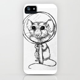 """""""Found Something"""" Mouse and Magnifying Glass sketch iPhone Case"""