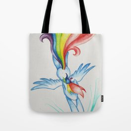 The Softest of Rainbooms Tote Bag