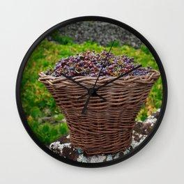 Grape harvest Wall Clock
