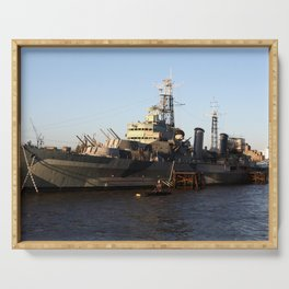 HMS Belfast on the Thames Serving Tray