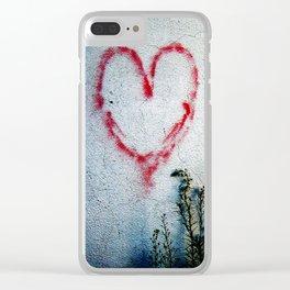 Minimal Flora Love Plant Clear iPhone Case