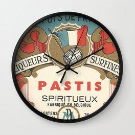 Vintage French Label, Pastis Digestif Wall Clock