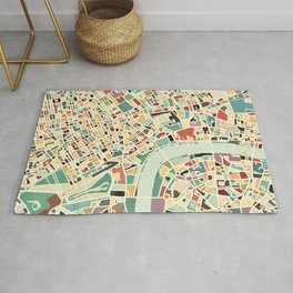 CITY OF LONDON MAP ART 01 Rug