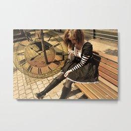 Clockwork lady Metal Print
