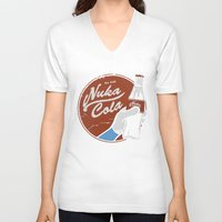 fallout V-neck T-shirts featuring Nuka Cola Fallout drink by Krakenspirit