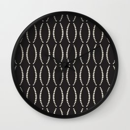 Beads in Black and White Wall Clock
