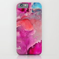 Abstract in Pink Slim Case iPhone 6s