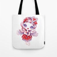valentina Tote Bags featuring Valentina by Sandra Vargas