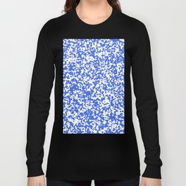 Small Spots - White and Royal Blue Long Sleeve T-shirt