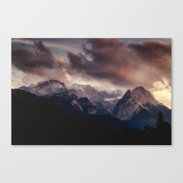 Cross Mountains #sunset Canvas Print
