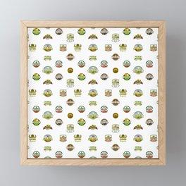 FARM LOGOS Framed Mini Art Print