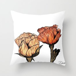 Peaceful flowers Throw Pillow