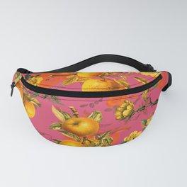 Vintage & Shabby Chic - Summer Golden Apples Pink Garden Fanny Pack