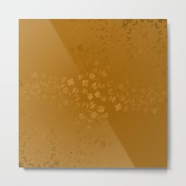 Golden Floral Bouquets Metal Print