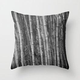 Bamboo in B&W Throw Pillow