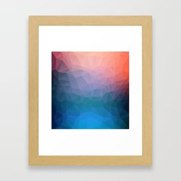 Abstract colorful triangles background Framed Art Print