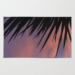 Palm Silhouette at Sunset Rug