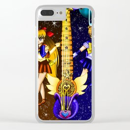 Fusion Sailor Moon Guitar #23 - Sailor Venus & Sailor Uranus Clear iPhone Case