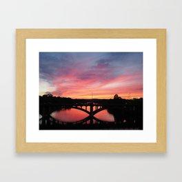 Crimson Bridge Framed Art Print